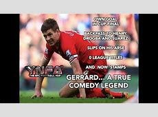 The best jokes on Steven Gerrard's idiotic red card for