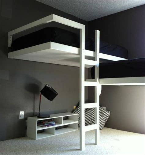 chambre en mezzanine lit superposé avec divan lit en dessous recherche