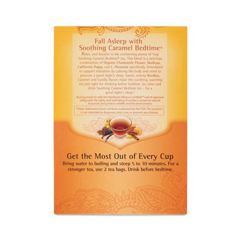 Yogi Tea Soothing Caramel Bedtime Tea Thrive Market