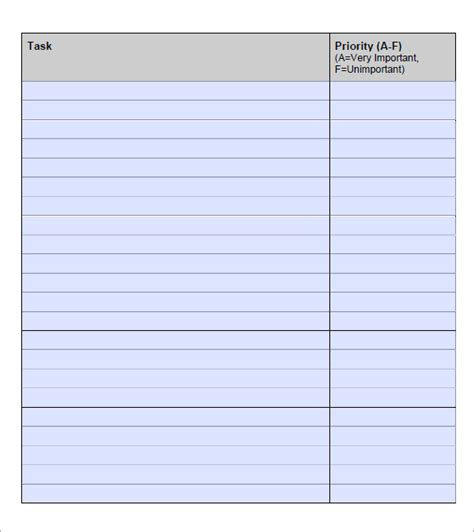 list template   samples examples format