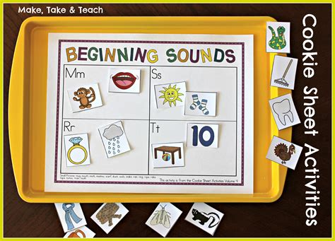 Cookie Sheet Activities Pre K- K Bundle- Early Literacy