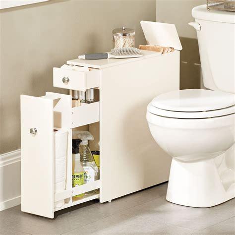 narrow stylized bath cabinet  thin   fit