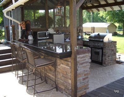 21+ Incredible Outdoor Kitchen Under Porch