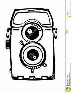 Vector Vintage Camera Isolated White Royalty