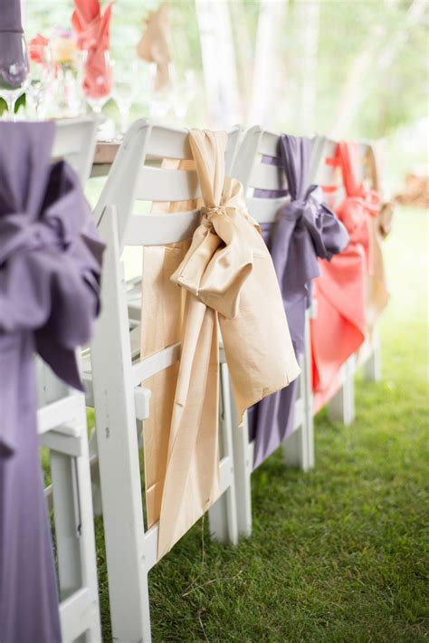 20 creative diy wedding chair ideas with satin sash