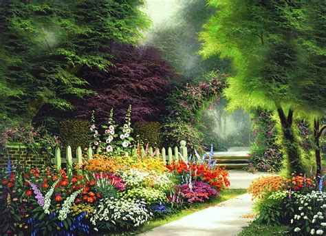 Garden Wallpaper by Garden In Springtime Wallpaper And Background Image