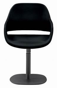 Fauteuil Pied Metal : fauteuil pivotant eva coque polyur thane pied m tal pied noir coque noire zanotta ~ Teatrodelosmanantiales.com Idées de Décoration