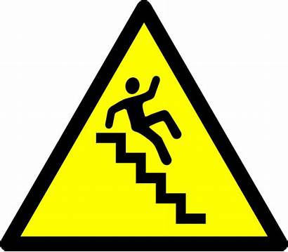 Caution Stairs Clip Clipart Clker Vector Safety