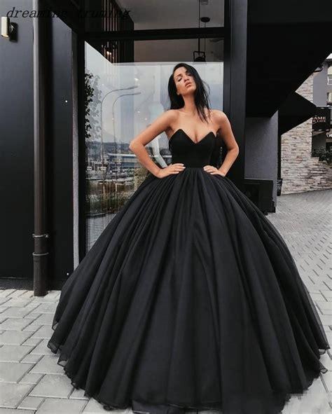 Vintage 2019 Black Wedding Dresses New Ball Gown