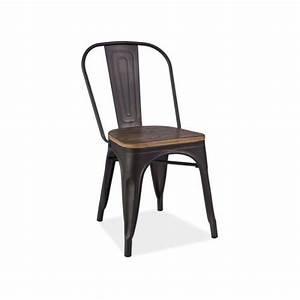 Chaise Bois Pas Cher : chaise metal loft achat vente chaise metal loft pas cher les soldes sur cdiscount cdiscount ~ Teatrodelosmanantiales.com Idées de Décoration