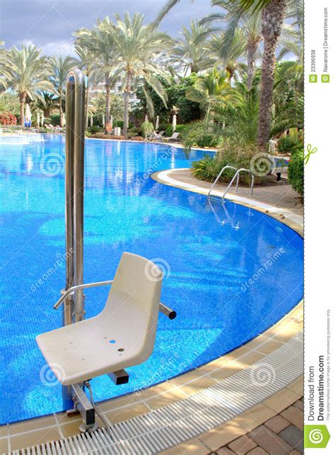 pool chair for disabled royalty free stock photos image