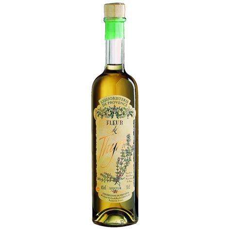 fleur de thym cuisine fleur de thym thyme liqueur 50cl liquoristerie de provence