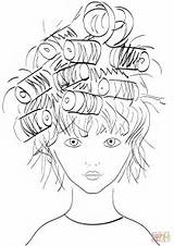 Coloring Pages Curlers Printable Drawing Colorings Domain Categories sketch template