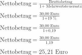 Vorsteuer Berechnen Formel : mehrwertsteuer rechner brutto netto einfach berechnen ~ Themetempest.com Abrechnung