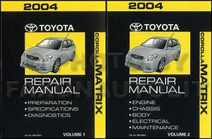 2004 Toyota Corolla Matrix Wiring Diagram Manual Original
