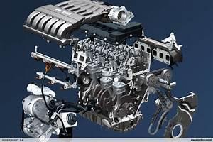 Volkswagen Pracuje Na N U00e1stupci Motoru Vr6