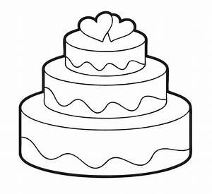 Kostenlose Malvorlage Hochzeit Und Liebe Hochzeitstorte