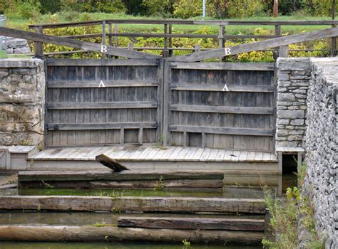 Boat Dock Gates by Docks On The Erie Canal New York Travel Photos By