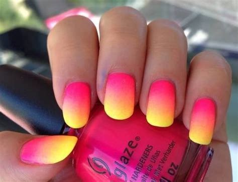 Yellow / Pink Nails Pictures, Photos, And Images For