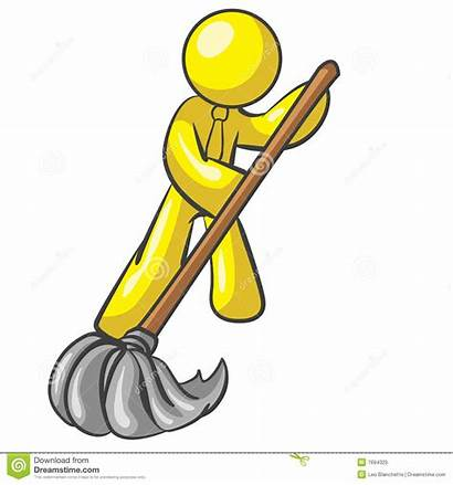 Floor Mopping Mascot Mop Royalty Cleaning Mr