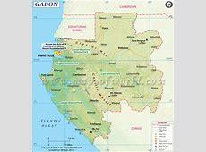 Gabon Map, Map of Gabon