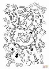 Coloring Pages Bracelet Diamonds Pendant Printable Dot Paper sketch template