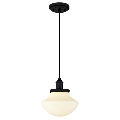 hton bay essex 1 light aged black mini pendant 14711