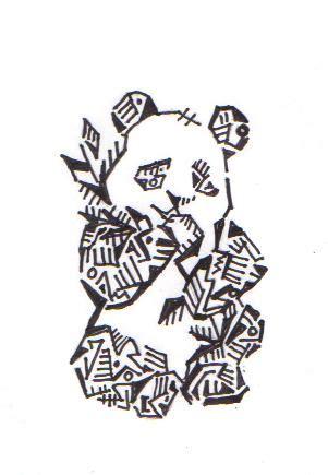 electro tribal panda  katwomynever  deviantart