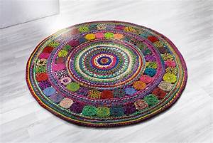 blog deco d39helline With tapis rond coloré