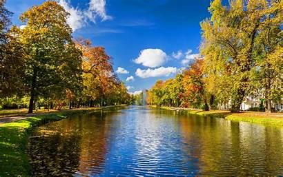 Autumn Wallpapers River Park Desktop Iphone Laptop