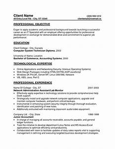 entry level resume professional objective and professional With entry level resume objective