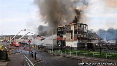 glasgow st marks school fire leads  asbestos scare