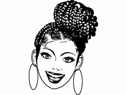 Dreads Woman Nubian Braids Latina Silhouette Afro
