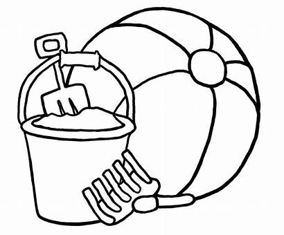Beach Clipart Toys Coloring Ball Advertisement