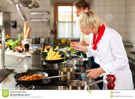 chefs   restaurant  hotel kitchen cooking stock image