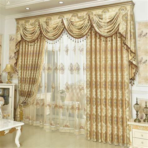 high quality fashion luxury european jacquard curtain