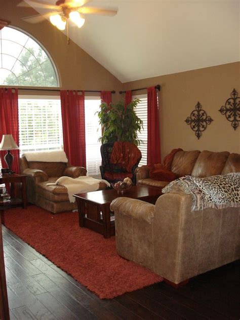 warm family room s and browns for the home