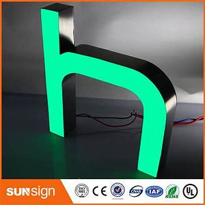 custom decorative storefront sign led resin channel letter With channel letter sign supplies