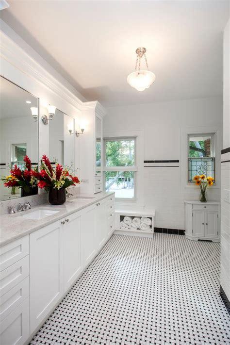 style master bathroom  black  white hgtv