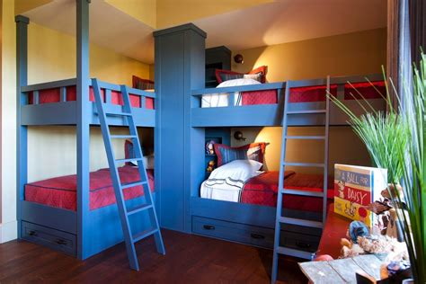 triple bunk bed Kids Rustic with multiple bunk beds ladder