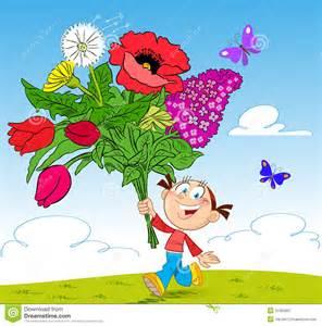Cartoon Flower Bouquet Roses