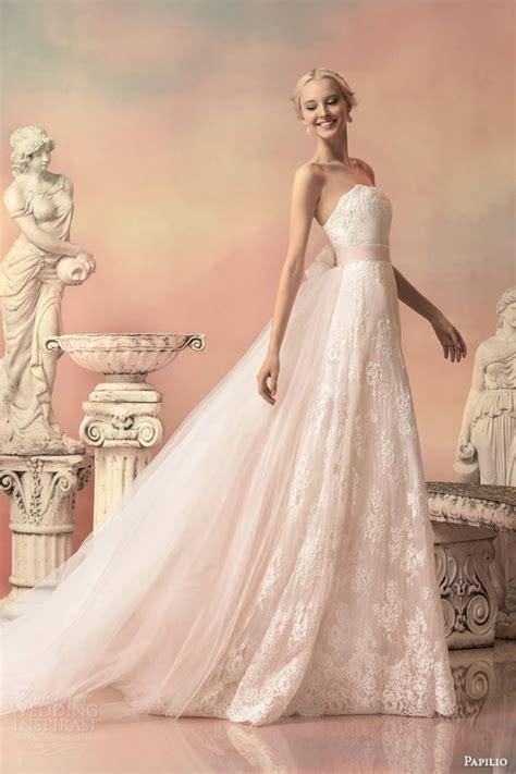 6585 pink lace wedding dress papilio 2015 wedding dresses hellas bridal collection 6585