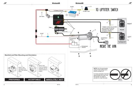 Air System Schematic by Air Lift 5000 Ultimate Air Springs Kit Installation