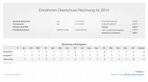 Rechnung Fahrtkosten : numbers vorlage einnahmen berschuss rechnung 2014 ohne ust ~ Themetempest.com Abrechnung