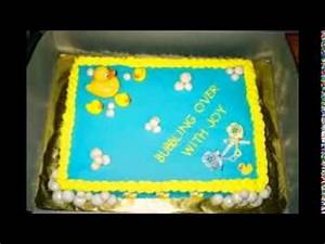 rubber ducky baby shower cake - YouTube