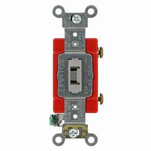 Prise 20 Ampere : leviton 1221 2r 20 amp 120 277 volt toggle single pole ~ Premium-room.com Idées de Décoration