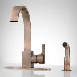 kitchen faucet copper aster kitchen faucet with side spray antique copper ebay