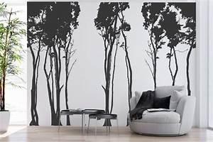 Baum Für Wohnzimmer : wandtattoo wohnzimmer dunkelbraune tapete ~ Michelbontemps.com Haus und Dekorationen