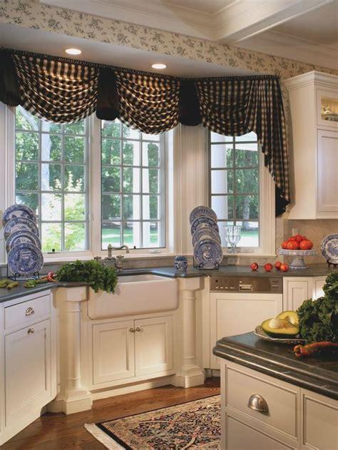 bay window kitchen treatments  sink google search