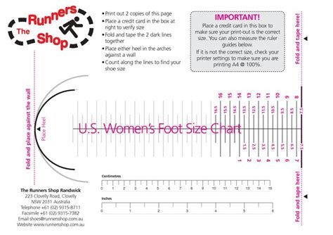 womens shoe size chart womens foot size chart charts